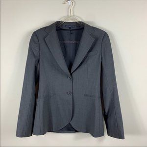 Theory gray wool career blazer 2 buttons